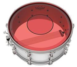 """Pele Remo Powerstroke 77 Colortone Red 13"""" Dupla Vermelha com Abafador e Bola Central (15621)"""