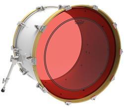 """Pele Remo Powerstroke 3 Colortone Red 20"""" Vermelha com Anel Muffle Abafador Interno (15630)"""