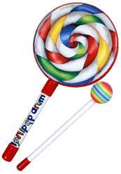 "Tambor Infantil Remo Lollipop Drum 08"" com Mallet (Musicalização Infantil) 10643"