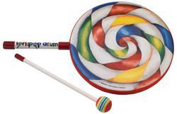 "Tambor Infantil Remo Lollipop Drum 10"" com Mallet (Musicalização Infantil) 10644"