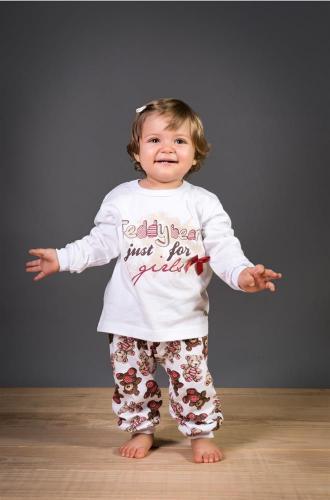 Pijama Infantil 100% Algodão Feminino calça e manga comprida