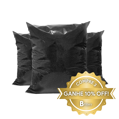 Carvão Ativado Granulado 12 X 25 MESH - Embalagem Contendo 1 Kg