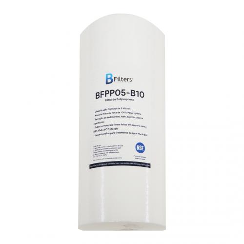 "Polipropileno De 10"" De Altura x 4.1/2"" de diâmetro x 5 Micras - Big BFilters"