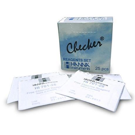 Reagente Em Pó Para Teste De Cloro Total HI711-25 - Contém 25 Testes
