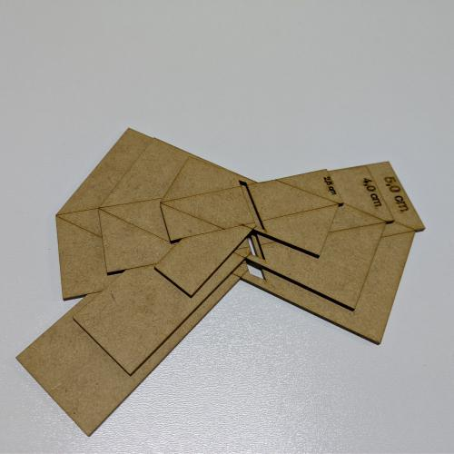 Gabarito Para Laco Boutique Geometrico 3 Tamanhos Gabaritos