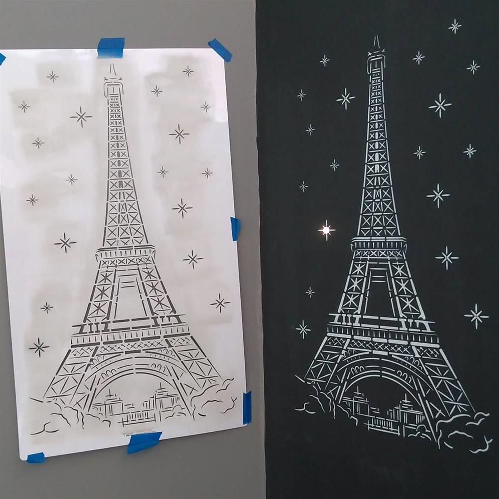 Stencil Torre Eiffel Estencil Para Pintura