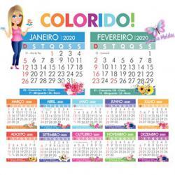 Calendario De 2020 Brasil.Mini Calendario Colorido 2020