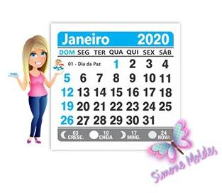 Mini Calendario.Mini Calendario Azul 2020 5x5 Cm